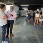 Primeros visitantes de las rutas en barco por la Ría de Arousa para visitar la muestra etnográfica Mar de Boiro